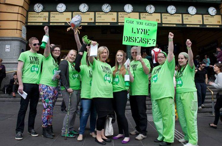 Lyme LDAA - LDAA group at Melbourne protest